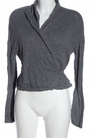 H&M Knitted Wrap Cardigan light grey-pink casual look