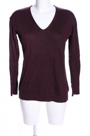 H&M Strickpullover lila Casual-Look