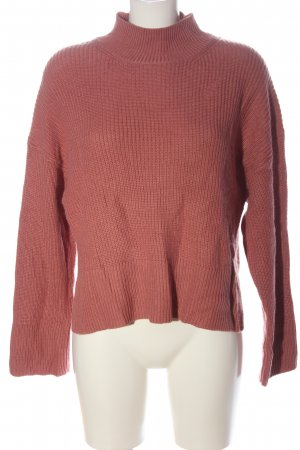 H&M Strickpullover pink Zopfmuster Casual-Look