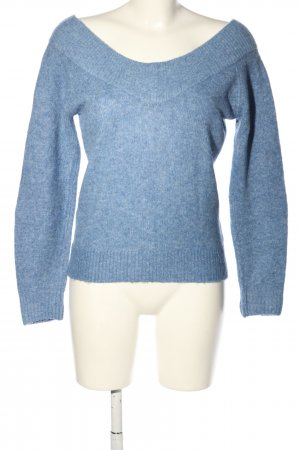 H&M Strickpullover blau meliert Casual-Look