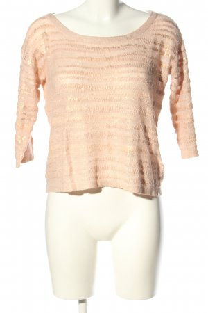 H&M Strickpullover creme Allover-Druck Casual-Look