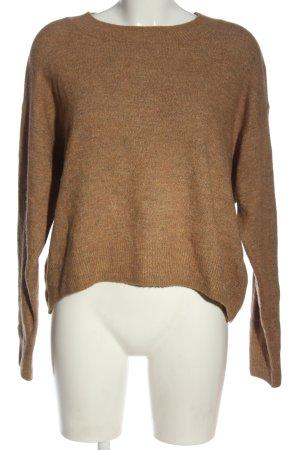 H&M Pull tricoté brun moucheté style décontracté