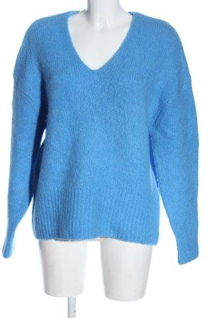 H&M Strickpullover blau Casual-Look