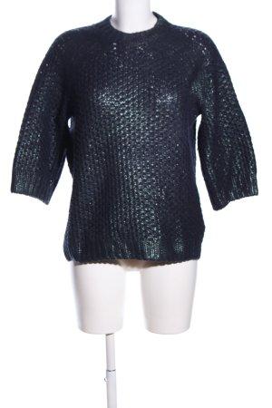 H&M Strickpullover blau-grün Casual-Look