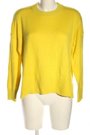 H&M Strickpullover blassgelb Casual-Look
