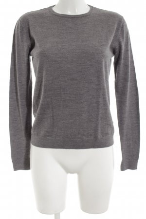 H&M Knitted Sweater light grey flecked casual look