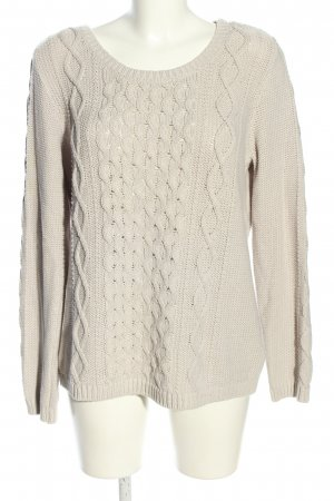 H&M Strickpullover wollweiß Zopfmuster Casual-Look