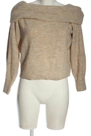 H&M Sweter z dzianiny kremowy Melanżowy W stylu casual