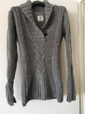 H&M L.O.G.G. Coarse Knitted Sweater grey