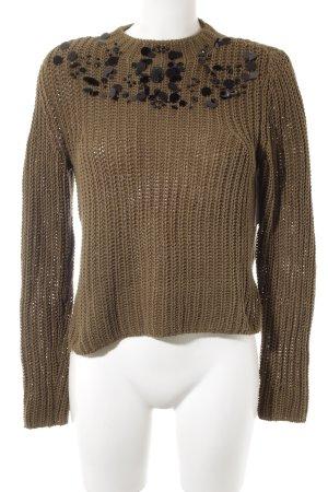 H&M Strickpullover khaki Casual-Look