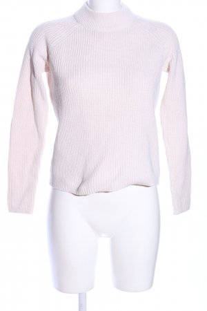 H&M Strickpullover pink Streifenmuster Casual-Look
