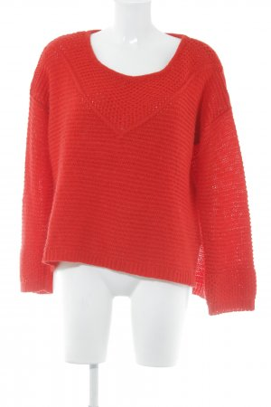 H&M Strickpullover rot Casual-Look