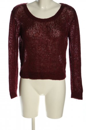 H&M Strickpullover rot Zopfmuster Casual-Look