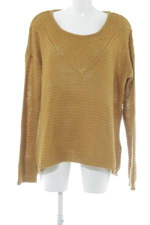 H&M Strickpullover sandbraun Casual-Look