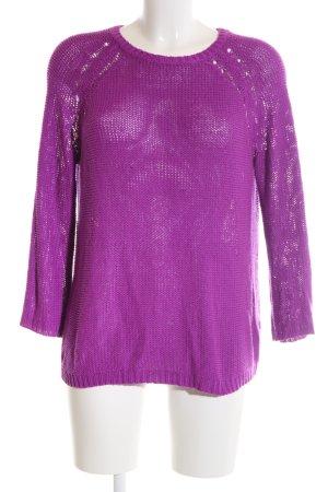 H&M Strickpullover violett-lila Casual-Look