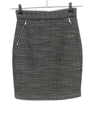 H&M Jupe tricotée gris clair moucheté style décontracté