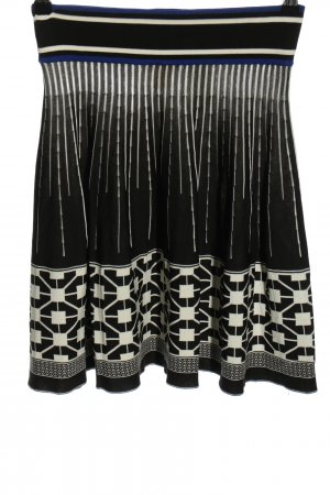 H&M Knitted Skirt black-white graphic pattern casual look