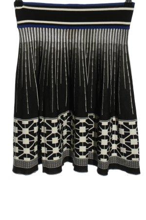 H&M Gebreide rok zwart-wit grafisch patroon casual uitstraling