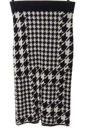 H&M Gebreide rok zwart-wit volledige print casual uitstraling