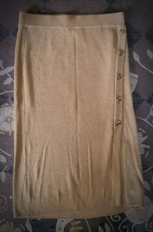 H&M Knitted Skirt sand brown mixture fibre