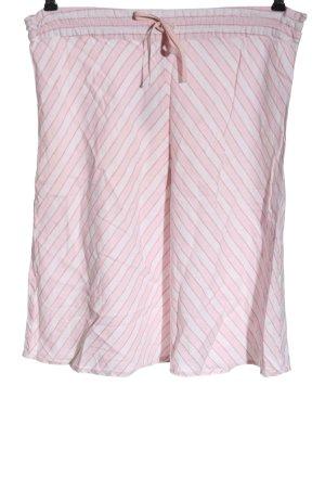 H&M Gebreide rok roze-wit gestreept patroon casual uitstraling