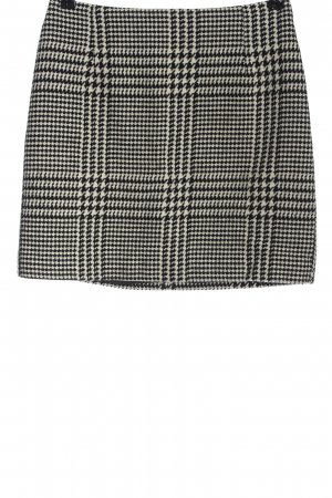 H&M Knitted Skirt black-white allover print elegant