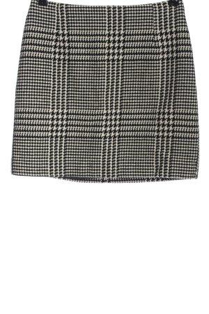 H&M Jupe tricotée noir-blanc imprimé allover élégant