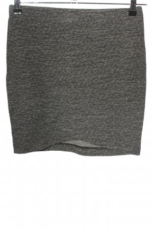 H&M Knitted Skirt light grey weave pattern casual look