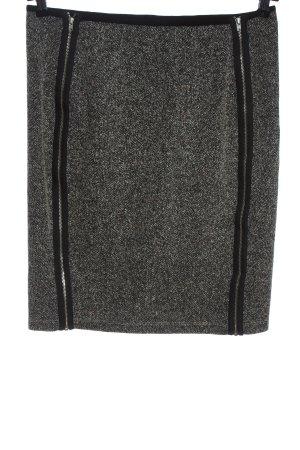H&M Falda de punto gris claro moteado look casual