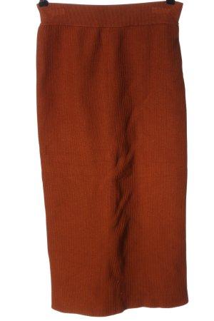 H&M Gebreide rok bruin gestreept patroon casual uitstraling