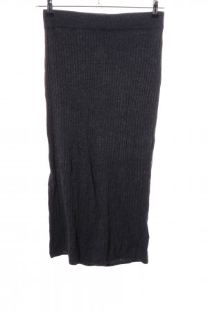 H&M Knitted Skirt black casual look