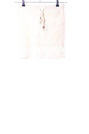 H&M Jupe tricotée crème-blanc motif de fleur style décontracté