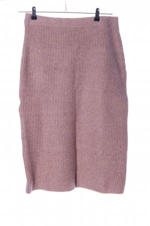 H&M Strickrock pink Zopfmuster Casual-Look