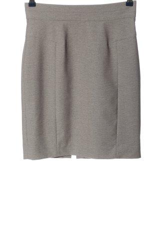 H&M Gebreide rok lichtgrijs gestippeld zakelijke stijl