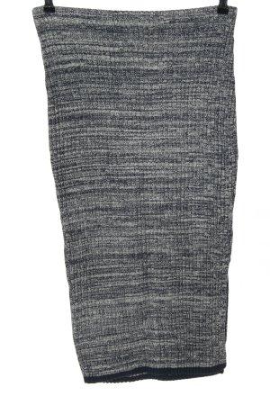 H&M Strickrock schwarz meliert Casual-Look