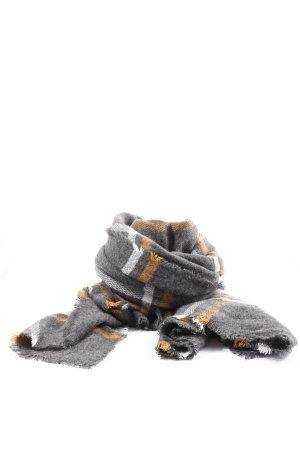 H&M Écharpe en tricot gris clair-orange clair imprimé allover