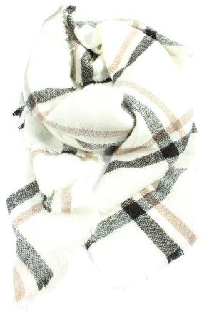 H&M Écharpe en tricot motif à carreaux style décontracté