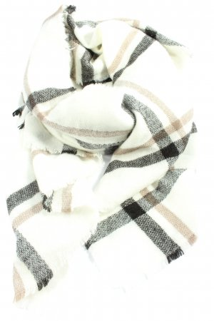 H&M Gebreide sjaal geruite print casual uitstraling