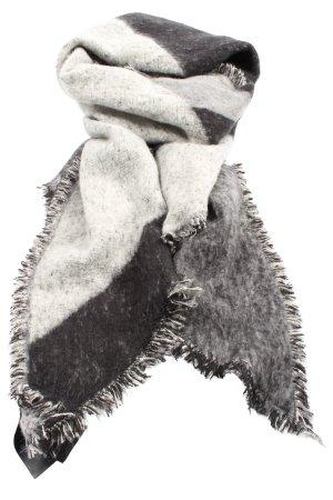 H&M Écharpe en tricot blanc-noir style décontracté