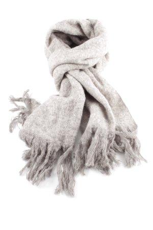 H&M Bufanda de punto gris claro moteado look casual