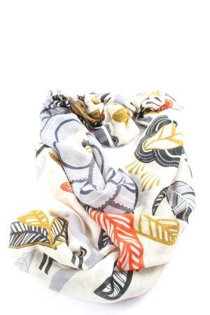 H&M Bufanda de punto estampado con diseño abstracto look casual