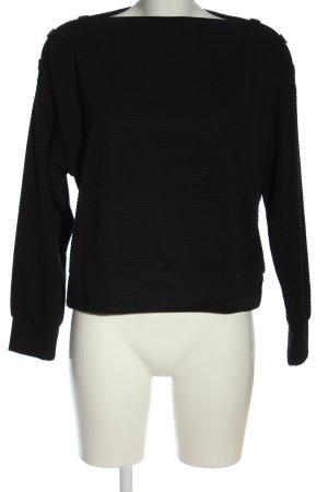 H&M Camisa tejida negro estampado a rayas elegante
