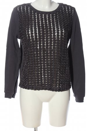 H&M Strickpullover schwarz Animalmuster Casual-Look