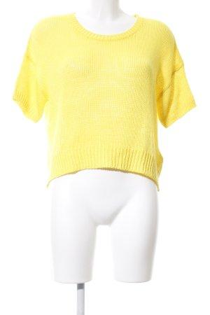 H&M Strickshirt blassgelb Casual-Look