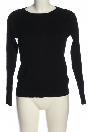 H&M Strickshirt schwarz Casual-Look