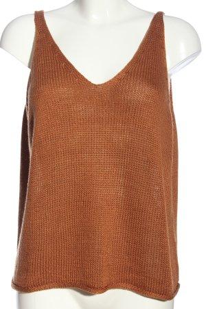 H&M T-shirts en mailles tricotées orange clair style décontracté