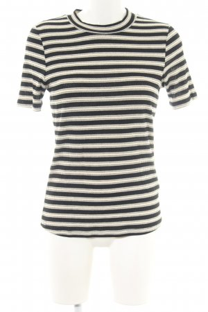 H&M Strickshirt creme-schwarz Streifenmuster Casual-Look