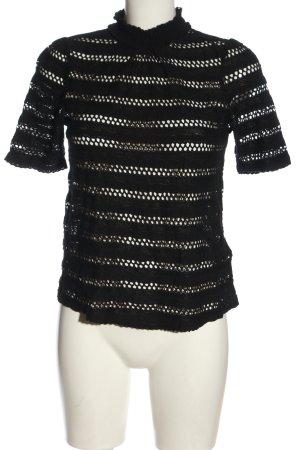H&M T-shirts en mailles tricotées noir style décontracté