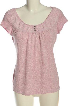 H&M Strickshirt pink-wollweiß Allover-Druck Casual-Look