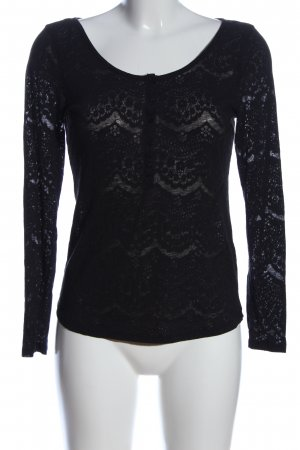 H&M Gebreid shirt zwart elegant
